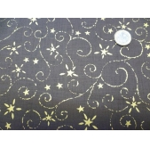 Brown/Gold Star (per 1/4 metre)