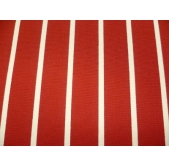 100% Cotton Duck Red Butchers Stripe