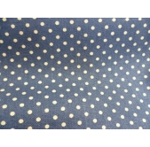 100% Cotton Canvas Navy Spot