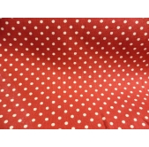 100% Cotton Canvas Red Spot
