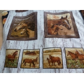 Timeless Treasures Horse Panel (per panel)