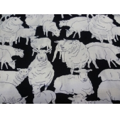 Sheepish Black/White (per 1/4 metre)