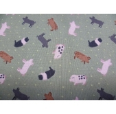 Pigs on Green (per 1/4 metre)