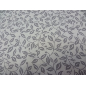 Floral Leaves Grey (per 1/4 metre)