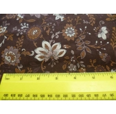 Fabric Freedom Brown Floral