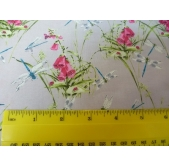 Dragonflies and Wild Flowers Cotton Fabric (per 1/4 metre)