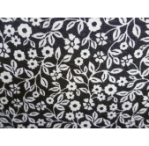 Small Flowers/Leaves Black (per 1/4 metre)