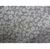 Small Flowers/Leaves Grey (per 1/4 metre)