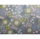 Magical Flowers on Grey (per 1/4 metre)