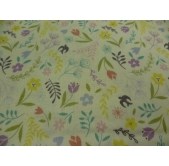 Swallows and Blooms on White (per 1/4 metre)