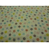 Little Multi Daisies on White (per 1/4 metre)