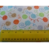 Balls of Yarn Cotton Fabric (per 1/4 metre)