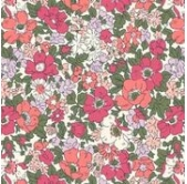Liberty Cosmos Meadow Pink Mix (per 1/4 metre)