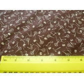 Needles and Pins fabric - brown (per 1/4 metre)