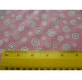 Pink Buttons Cotton Fabric (per 1/4 metre)