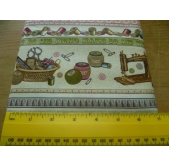 Vintage Dolls and Sewing Machines fabric (per 1/4 metre)