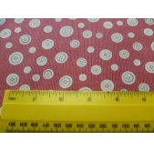 Red Buttons Cotton Fabric (per 1/4 metre)