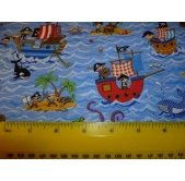 Treasure Island Cotton Fabric (per 1/4 metre)