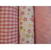 Polycottons,  plain, gingham and prints