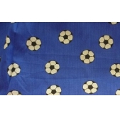 Blue Footballs Polycotton PC2