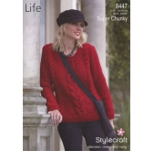 Knitting pattern Life Super Chunky 8447