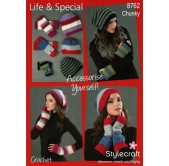 Stylecraft Crochet Pattern 8762 Accessories
