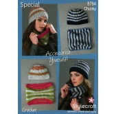 Stylecraft Crochet Pattern 8764 Accessories