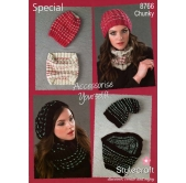 Stylecraft Knitting Pattern 8766 Accessories