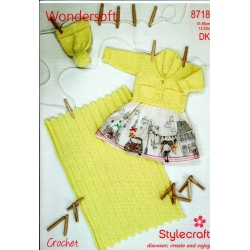 Stylecraft Crochet Pattern 8718