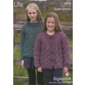Knitting Pattern Life Super Chunky 8455