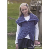 Knitting pattern LIfe Super Chunky 8456